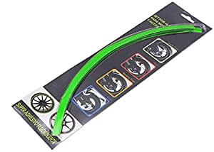 Universal Car Motorcycle Bike Motocross Auto Reflective Rim Wheel Tape Stripe Moto Stickers Moto Decals Green