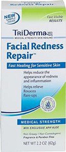 TriDerma Facial Redness Repair Cream, Non-Greasy, Fragrance-Free (Redness Facial Triderma Repair)
