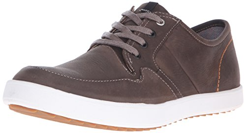 Hush Puppies Men's Hanston Roadside Leather Sneaker, Taupe Leather, 10 M US