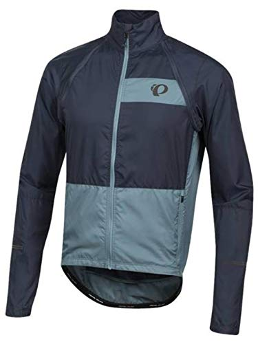 Pearl iZUMi Midnight Navy-Arctic Elite Escape Convertible Cycling Jacket (XL, Navy) (Convertible Jacket Lightweight)