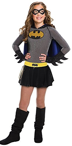 Dc Comics Dress (Rubie's Costume Boys DC Comics Batgirl Dress Costume, Small, Multicolor)