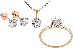 Vera Perla Women's 18K Solid Rose Gold Jewelry Set - SS3
