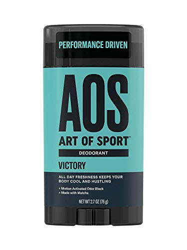Art of Sport Men's Deodorant Clear Stick, Victory Scent, Aluminum Free, High Performance Sport Deodorant, Made with Matcha, Keeps You Cool and Fresh All Day, No Parabens, 2.7oz