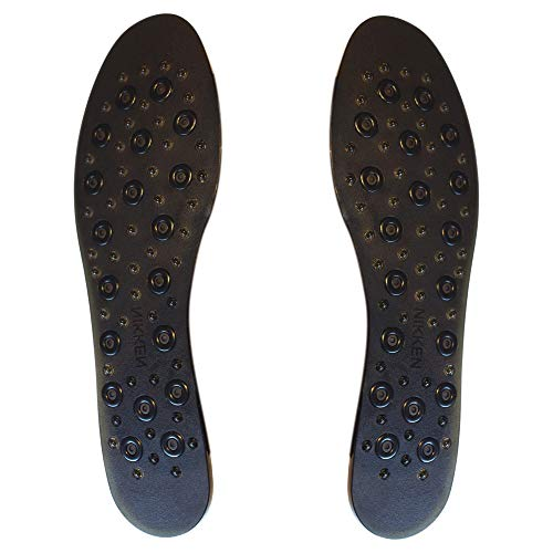 Nikken 1 mSteps Insoles with Acupressure Massage Nodes, 20213, Women Shoe Sizes 5 to 9, Pair, Cut to Fit, Magnetic Therapy, Improve Blood Circulation, Kenko