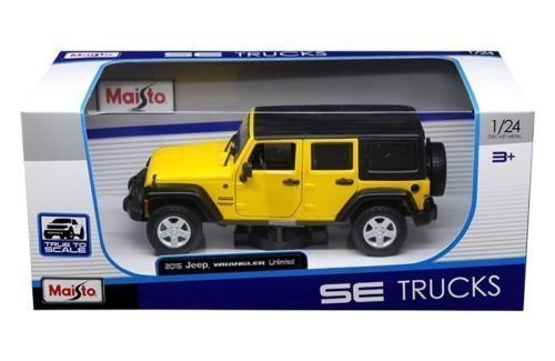 Maisto 1:24 W/B Special Edition Trucks-2015 Jeep Wrangler Unlimited Diecast Vehicles by Maisto