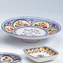 El Puente del Arzobispo Hand Painted Ceramic Spanish Tortilla Plate (10 in wide)
