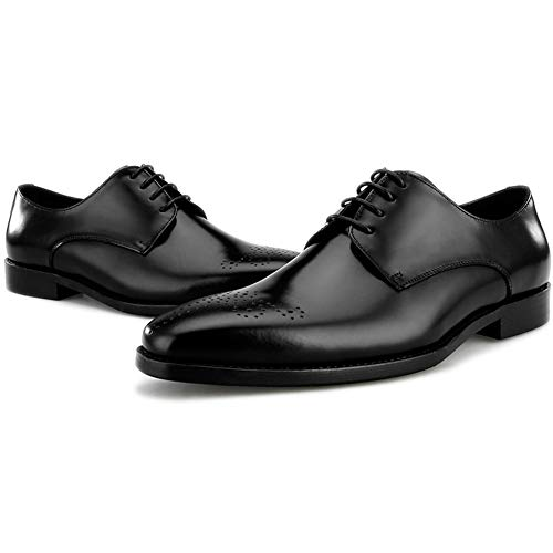 Da Mano Formal A Pelle Fatte Scarpe Lace Business Carve Regali Derby Uomo Evening Work Calzature Up Business Business Black Shoe Nozze Party Vera Di 4wqqW0d6