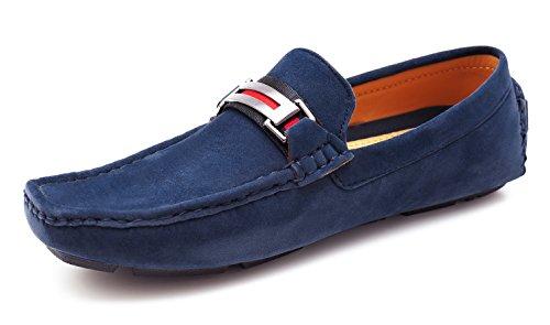 Evoga Mocassins pour homme Bleu bleu 40 zXXR7rD1c