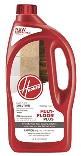 Hoover AH30425NF Hard Floor Cleaner Detergent Solution, Multi-Floor 2X Concentrated Formula, 32 oz