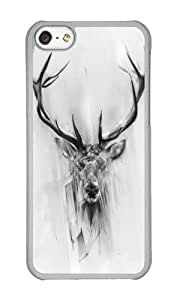 Iphone 5C Case,WENJORS Personalized Red Deer Hard Case Protective Shell Cell Phone Cover For Iphone 5C - PC Transparent