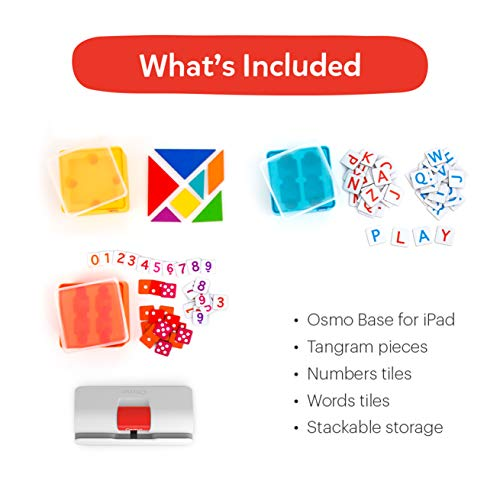 Osmo – Genius Starter Kit, Ages 6-10 – Math, Spelling, Creativity & More – STEM Toy Educational Learning Games (Osmo…