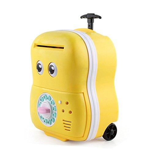 TM Machine Password Automatic Money Saving Children's Toy Money Box (yellow) (Atm Savings Machine)