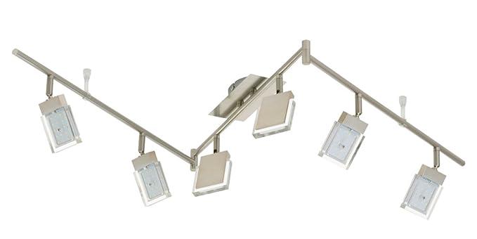 Led Deckenleuchte Darlux 59228498 6x4 5 Watt 450 Lumen Nickel Matt