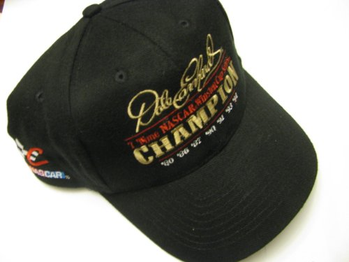 87980e2d044 Dale Earnhardt Sr  3 Seven 7 Time Champion Champ With Championship Dates  Black Hat With Gold