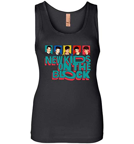 New Kids On The Block The Mixtape Tour 2019-Womens Jersey Tank Black (New Kids On The Block Jersey)