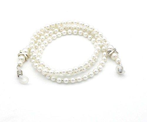 Maxloom Women Pearl beaded Fashion Glass Chain Ivory Sungalss Holder - Shop Sungalsses