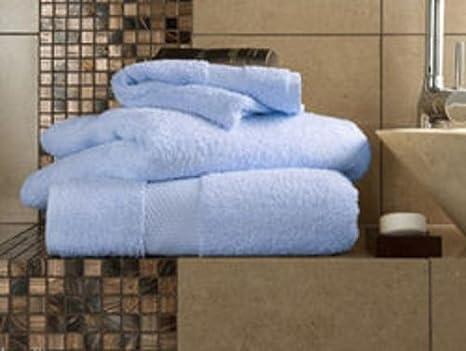 Linensrange Miami Chambray - Toallas de Mano absorbentes, 100% Algodón Egipcio, Toallas de Baño y Toallas de Baño, Chambray, 2 Bath Sheets: Amazon.es: Hogar