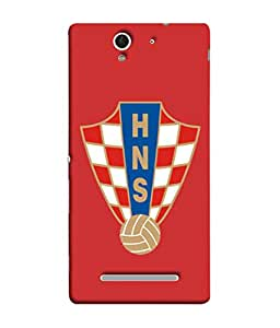 ColorKing Football Croatia 08 Red shell case cover for Sony Xperia C3