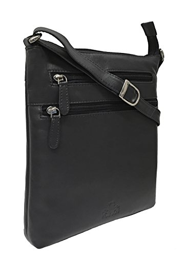 Bag Shoulder Leather Women's Rowallan Rowallan Black Women's q0wXZP