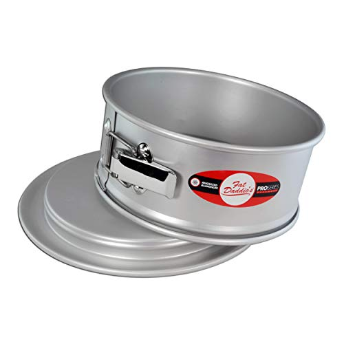 Fat Daddios PSF-103 Anodized Aluminum Springform Cake Pan, 10 x 3 Inch, Silver