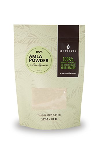 100% pure Amla Powder 1/2 LB- ORGANICALLY GROWN -NEW! Resealable packaging