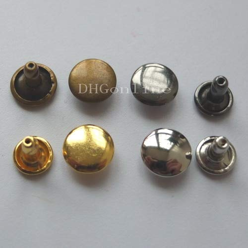 Leather Rivets Set 1000 Sets Double Round Stud Cap 8mm Or 3/10'' Rivetbutton Leather Leathercraft Ws by X-CRAFT (Image #3)