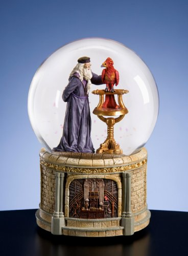 Dumbledore & Fawkes Harry Potter Snow Globe