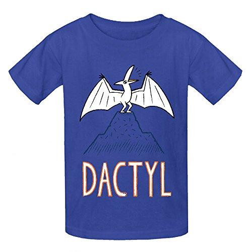 Dactyl Dinosaur Funny Girls Crew Neck Graphic T Shirts Blue
