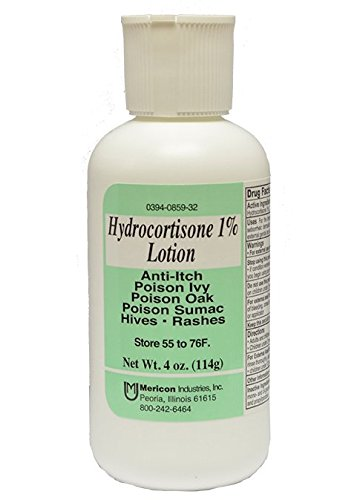 Price comparison product image Hydrocortisone 1 Percent Maximum Strength Anti Itch, Poison Ivy Lotion By Mericon - 4 Oz