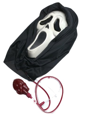 Scream Mask Dripping Blood