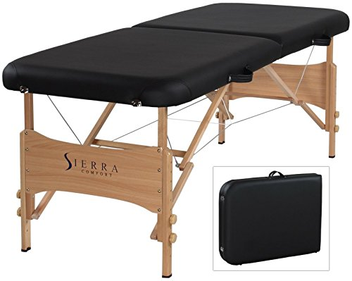 Sierra Comfort Basic Portable Massage Back Manual Table Black Shiatsu Classic