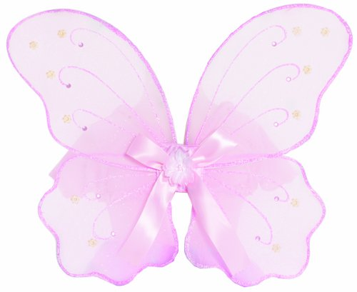 [Great Pretenders Pink Fairy Wings (One Size)] (Dress Up Fairy Wings)