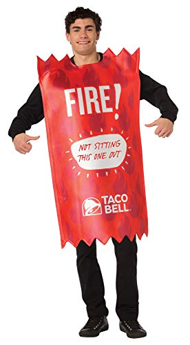 Taco Bell Sauce Packet Fire Costume, Adult