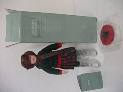 """1991 Avon Childhood Dreams Porcelain Doll Collection """"skating Party"""""""