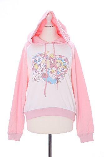 TS-92-1 Rosa Chibi Alice Wonderland Bunny Pastel Goth Lolita Kapuzen-Pullover Sweatshirt Harajuku Kawaii-Story