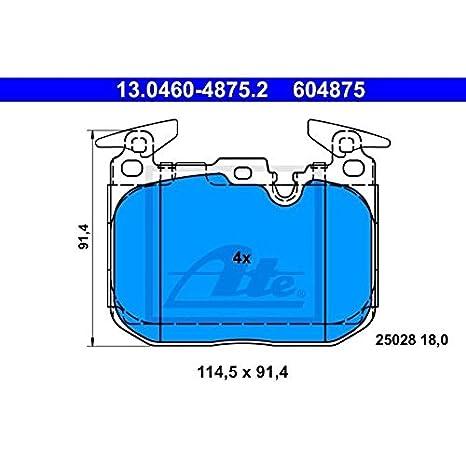 Scheibenbremse ATE 13.0460-4875.2 Bremsbelagsatz