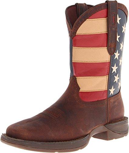 Durango Men's Rebel Western Boot,Brown,10.5 M US (Flag Mens Rebel Leather)