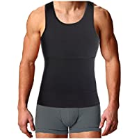 Gotoly Men Compression Shirt Shapewear Slimming Body Shaper Vest Undershirt Weight Loss Tank Top