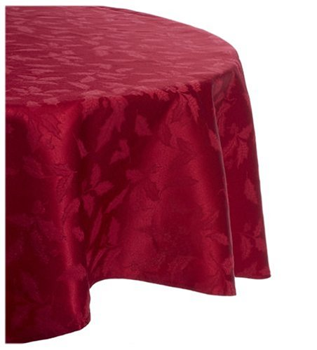 Amazon.com: Lenox Holly Damask Tablecloth, 70 Inch Round, Red: Kitchen U0026  Dining
