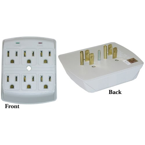 GadKo Surge Protector, 6 Outlet, MOV 370 Joules