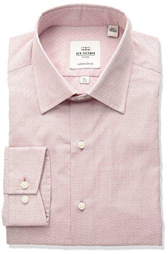 Ben Sherman Men's Dobby Florentine Spread Slim Fit Dress Shirt