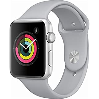 Apple Watch Series 3 (GPS) 42mm Smartwatch (Silver Aluminum Case, Fog Sport Band)