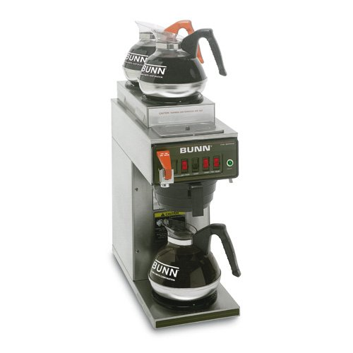 Bunn 12950.0217 CWTF15-3 Automatic Coffee Brewer with 1 Lower / 2 Upper Warmers (Decanters Not Included) (120V)