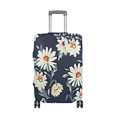 7f6c551b87ce chic Elastic Travel Luggage Cover Floral Daisy Suitcase Protector ...