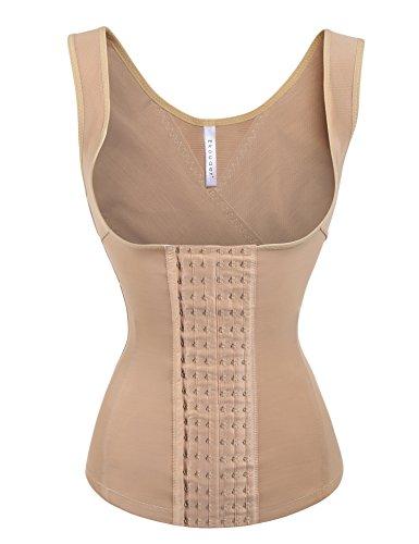 Ekouaer Womens Fajas Vest Waist Cincher Corset for Weight Loss,Nude,3XL fit 39 - 41 Inch Waistline