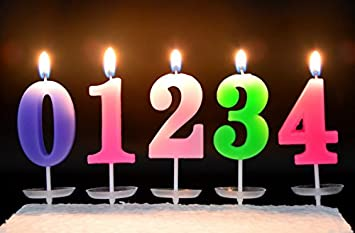 Amazon Assorted 0 9 Birthday Candles Numbers Candy Color