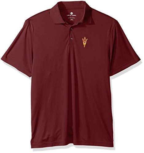 (Levelwear LEY9R NCAA Arizona State Sun Devils Adult Men Helium Insignia Polo, Medium,)