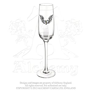 Amazon Com Wine Champagne Glass Flute Romantic Love Pewter Wings 3d
