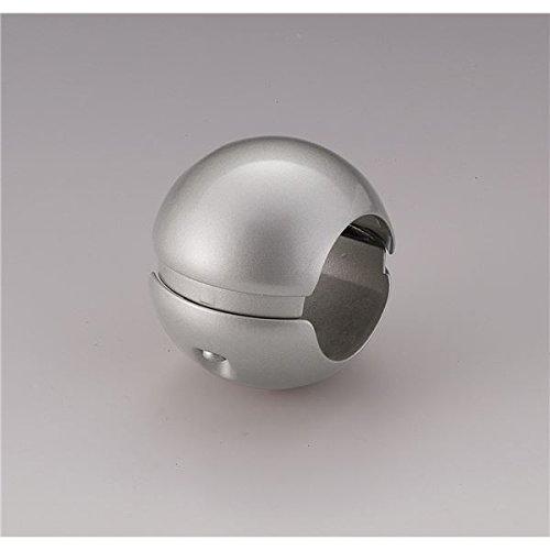 【10個セット】階段手すり滑り止め 『どこでもグリップ』ボール形 亜鉛合金 直径35mm シルバー シロクマ 日本製 B07D1F6287