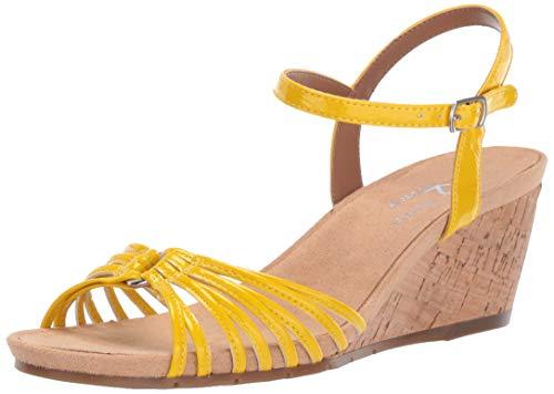 (Aerosoles A2 Women's Fruit Cake Sandal, Yellow Patent, 12 M US)